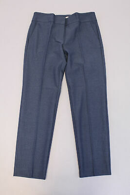 LOFT Women's Modern Skinny Ankle Houndstooth Pants GG8 Blue Size 4x29 NWT $79.99