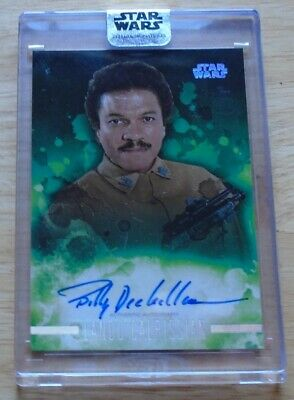 2019 Star Wars Topps Green Stellar card Billy Dee Williams as Lando 34/40 auto!!