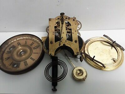 Ansonia Usa 8 Day Clock Movement And Parts To Complete
