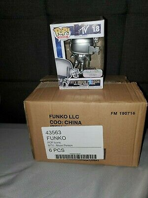 MTV Moon Man FUNKO POP! SEALED CASE 6 IN-HAND DOUBLE BOXED & FREE SHIPPING