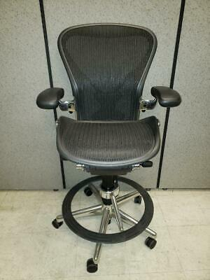 Herman Miller Aeron Drafting Stool With Posture-Fit And Chrome