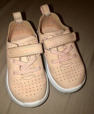 Clarks Baby / Toddler Girls Pink Trainer Shoes 4.5F