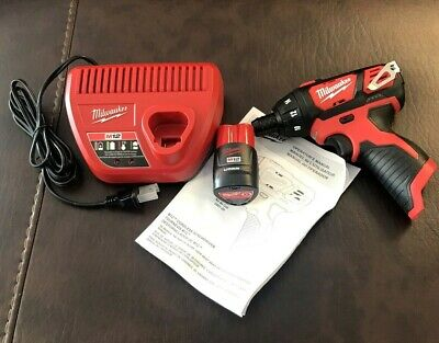 M12 12-Volt Lithium-Ion Cordless 1/4 in. Hex Screwdriver & (1) Battery & charger