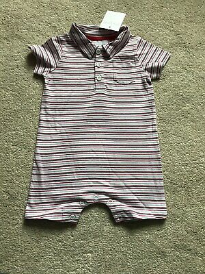 The Little White Company Striped Romper 3-6months