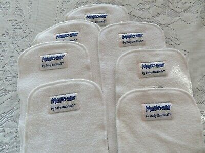 Seven Pre-loved Baby Beehinds Nappy Inserts