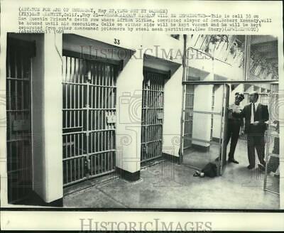 1969 Press Photo Cell 33 on San Quentin death row where Sirhan Sirhan will stay