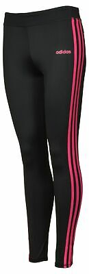 adidas Kids' Youth Girls Tight Legging 3 Stripe Pink NWT Size S 7/8