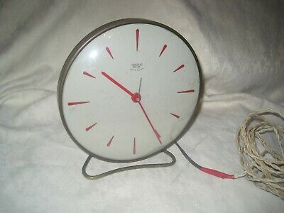 Vintage RARE Mantle Clock by SMITHS Sectric MAINS Fully Working RED England