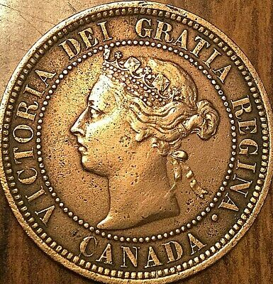 1888 Canada Large 1 Cent Penny