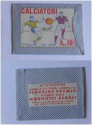 Calciatori Panini Bustina Packet 1962 Rare Mint perfetta Sigillata Sealed Origin