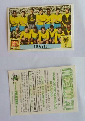 Calciatori Panini Mexico 70 sticker Brasil 1962 Team Rare Rare