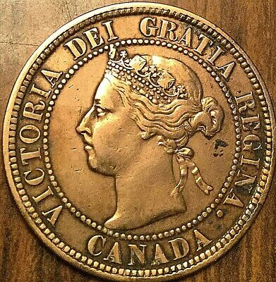 1898 H Canada Large 1 Cent Penny