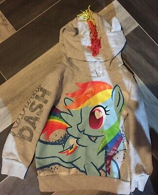 My Little Pony Rainbow Dash Girls Hoodie 4-5 Years