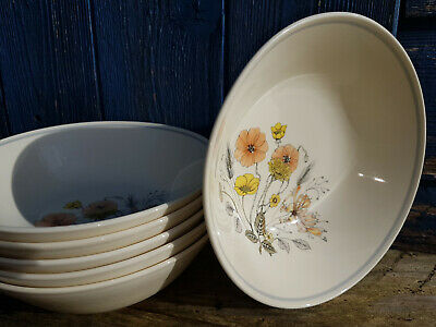 Vintage J&G Meakin Trend Hedgerow Cereal Bowl x 6