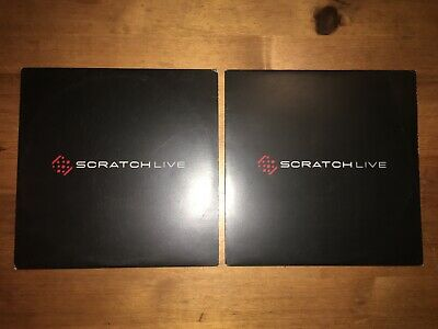 Serato Scratch Live Timecode Vinyls x 2 (VG+)