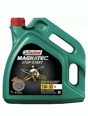 Castrol Magnatec Stop-Start 4L Car Engine Oil 4 Litres 5W30 A5 Fully Synthetic