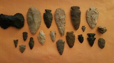 Authentic Native American Indian Stone Artifact Lot