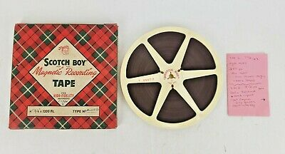 Vintage Reel To Reel Audio Tapes BBC Radio Billy Graham London 1954