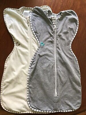2 x Love to Dream Original Baby Swaddle, Zip Up Sleeping Bag 1 Tog, Great Cond.