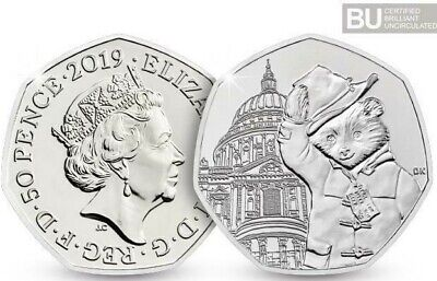 THE 2019 UK PADDINGTON™ AT St. PAUL'S CATHEDRAL 50p COIN >UNCIRCULATED< BUNC