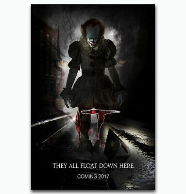 T2492 Silk Poster IT 2017 Movie Stephen King Horrible Film PennyWise Art Print