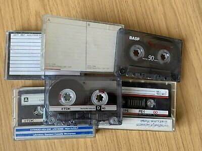 6 x Used Blank Audio Music Cassette Tapes