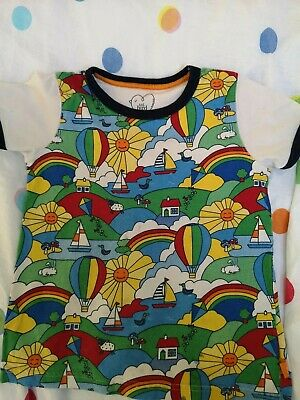 Mothercare Little Bird By Jools Oliver retro print Tshirt 4-5 Years 110cm