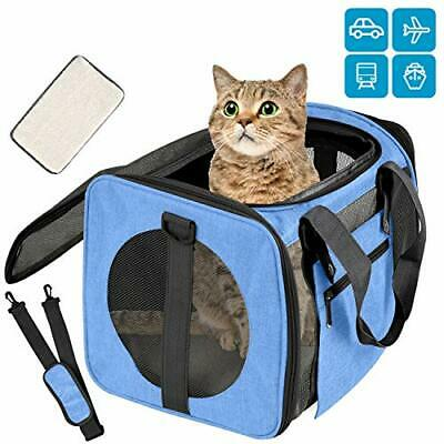 Vailge Transportbox Katze Transportbox Hund Faltbare Katzentransportbox, (Blau)