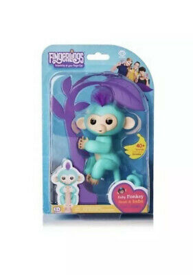 Baby Monkey Fingerlings Electronic Interactive Smart Toy Pet 40+Sounds