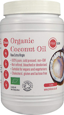 PINK SUN Raw Organic Coconut Oil 1 Litre or 3 6 12 litres Extra Virgin Cold Pure