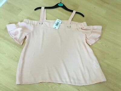 Girls Off Shoulder Pink Top NEW Age 12 Years BNWT Matalan £8 Cold Shoulder Top