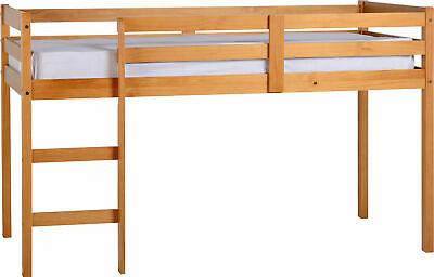 Seconique Panama Mid Sleeper Bed - Solid Wood - Antique Pine Finish - SALE