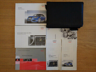 Audi RS4 Owners Handbook/Manual and Pack 06-08