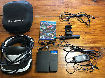 Sony PlayStation VR Virtual Reality Headset Bundle For PS4 - CUH-ZVR1 W/ Case