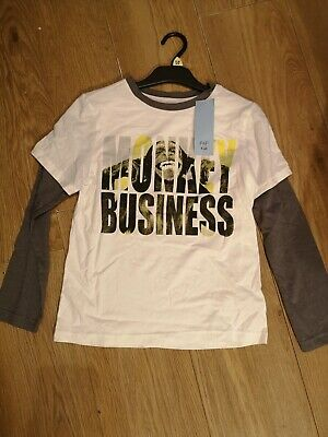 Boys long sleeved T-shirt. New. Age 9-10. Florence and Fred.