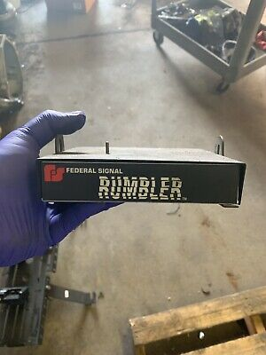 Federal Signal Rumbler Amplifier - Used, works great!!