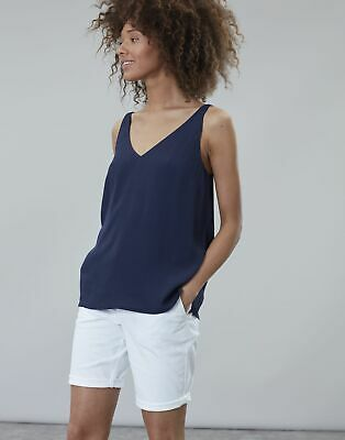 Joules Womens Kyra V Neck Camisole Top in FRENCH NAVY Size 20