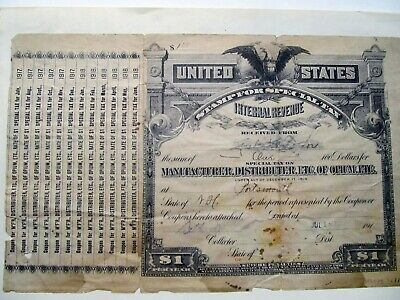 United States IRS Tax form for Manufacturer / Distributor of Opium New Hampshire