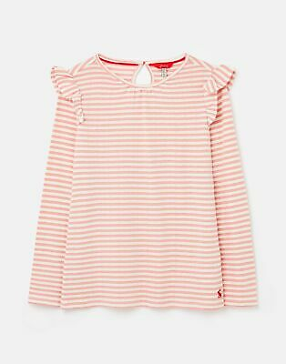 Joules Evelyn Jersey Flutter Top 1 12 Years in PINK STRIPE Size 2yr