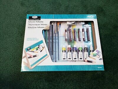 New Royal & Langnickel Essentials Easel Art Set with Mixed Media 40 Pieces