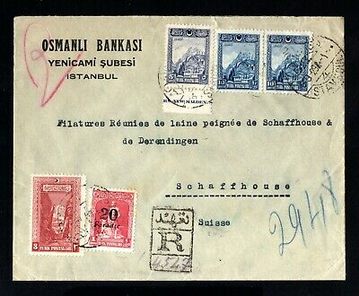 S1258-TURKEY-REGISTERED OTTOMAN BANK COVER ISTANBUL to GERMANY 1929.Turquie.