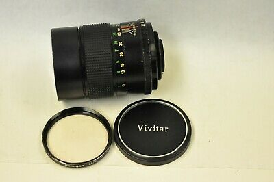 Vivitar 135mm f2.8 manual focus lens with M42 mount. With filter & front cap.