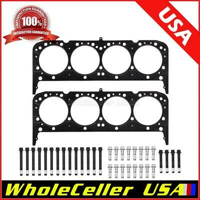 Stud Kit 4.165 Bore Chevy SBC 350 Multi Layer Steel Head Gasket and 12pt
