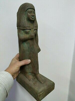 One of the wives.  King Amenhotep the Second.  A rare piece of Pharaonic bronze.