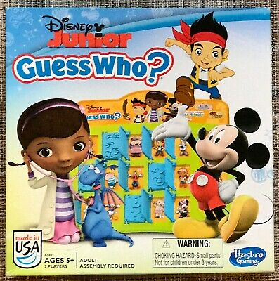 Disney Junior Guess Who? Mystery Face Guessing Game 2013 Hasbro Gaming Ages 5+