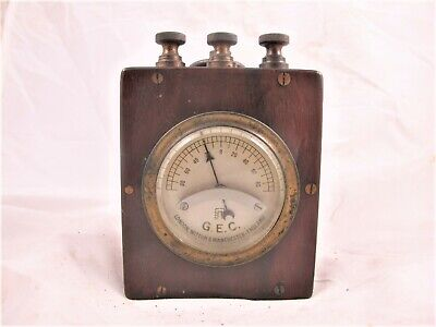 Gec Mahogany Cased Electricity Meter With Bevelled Glass C 1920'S