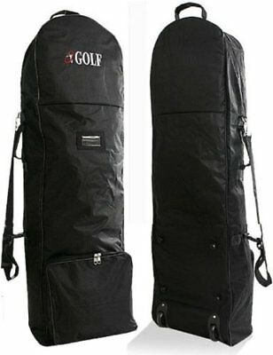 NEW Travel Cover for Golf Caddie Cart Bag Black With Caster Wheel Fas From japan