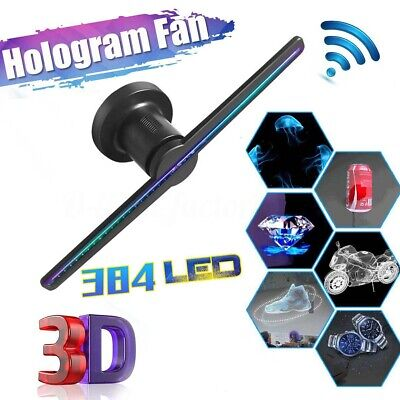 384 LEDs Hologram Fan Holographic 3D Projector Advertising Machine Display WIFI