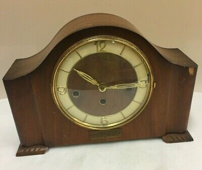Vintage Mantle Clock with Dedication ****Spare or repairs*** (D3)