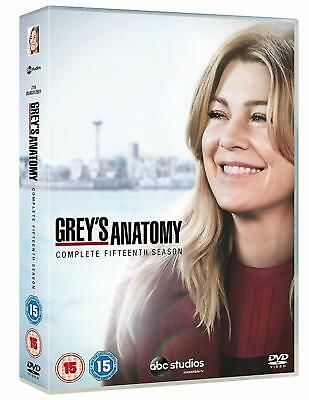 GREY'S ANATOMY Stagione 15 Serie Completa BOX 7 DVD in Inglese/Francese NEW .cp